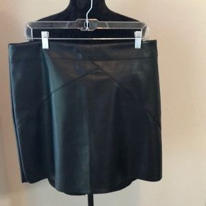 Mud Pie Vegan leather black skirt